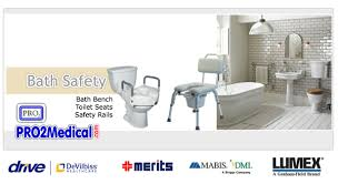 Bathroom Safety For Seniors Bath Benches Shower Chairs U0026 Toilet Safety Rails Pro2 Medical