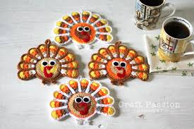 turkey coasters free crochet pattern craft page 2 of 2