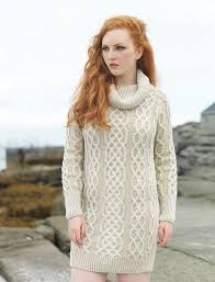 sweater dress cowl neck aran plaited sweater dress sweater dress wool sweater