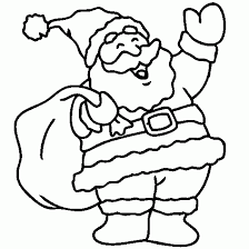 super coloring santa claus christmas coloring print
