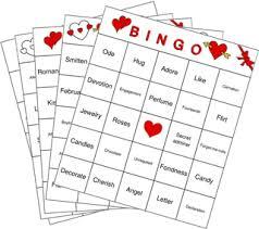 valentines bingo s bingo cards a valentines bingo collection