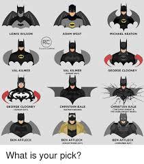 Val Kilmer Batman Meme - lewis wilson val kilmer george clooney sonar suit ben affleck rc