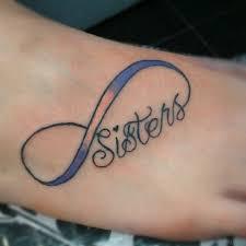 18 sisters tattoos on foot