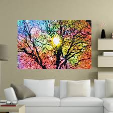 cloth poster ebay psychedelic trippy tree abstract sun silk cloth poster home wall art decor 20x13