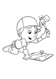 handy manny tools coloring pages handy manny using pat the hammer coloring page handy manny using