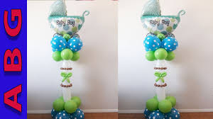 easy baby shower idea its a boy balloon carriage no helium no