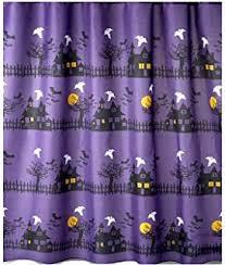 Dark Purple Shower Curtain Amazon Com Halloween Glow In The Dark Shower Curtain Spider Web