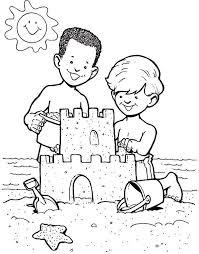 sand castle create boys coloring sand castle create