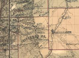 Map Of Denver Colorado Mapping Early Colorado And The University Of Denver Mapping The