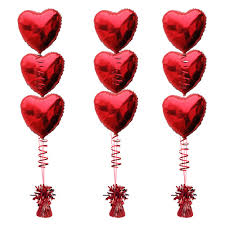 heart balloon bouquet 3 foil balloon bouquets heart 3 per bouquet balloons co uk