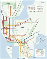 Subway Nyc Map Subway Map Enthusiast Creates A More Geographically Correct