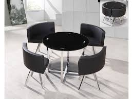 Space Saver Kitchen Tables by Small Round Black Glass Dining Table And Chairs Starrkingschool