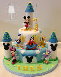 baby mickey mouse castle cake blue mickey u0026 friends castle for
