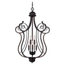 Home Depot Bronze Chandelier Millennium Lighting 6 Light Rubbed Bronze Chandelier With Turinian
