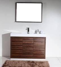 Modern Walnut Bathroom Vanity by Bliss 48