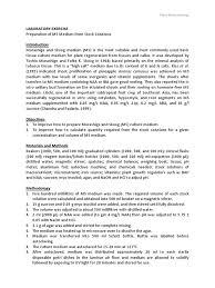 preparation of ms medium from stock solution agar growth medium