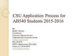 csu application process for ab540 students by raúl z moreno