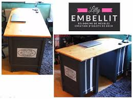 bureau en pin relooking bureau en pin relooking de meubles création d objets