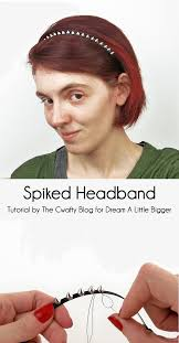spiked headband spiked headband a bigger