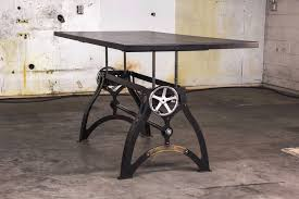 Sit Stand Desks Industrialux Sit Stand Crank Desk Vintage Industrial Furniture