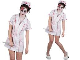horror zombie killer nurse costume ladies halloween fancy dress