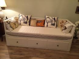 Ikea Hemnes Daybed Bedroom Minimalist Bedrooms Look Using Yellow Wall And