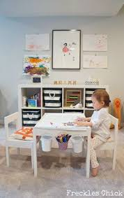 Kids Toy Room Storage by Source Freckles Website Chic Playroom Featuring Ikea