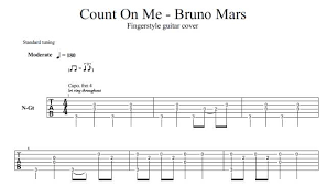Count On Me Bruno Mars Piano Pdf Count On Me By Bruno Mars Acoustic Guitar Arrangement