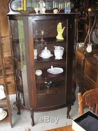 curved glass china cabinet antique mahogany curved glass china cabinet with claw feet
