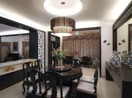 contemporary chandeliers for classical home interior touch amaza dining room interior design with wooden table in round shape completed with contemporary chandeliers lighting design