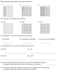 decimal model worksheet decimal model hundredths 4 worksheets