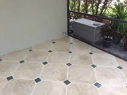 Patio Tile Flooring by Concrete Designs Florida Tile Patio With Insert