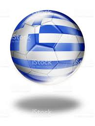 Greece Flag Emoji Greece Soccer Ball With Greek Flag Isolated On White Stock Vector
