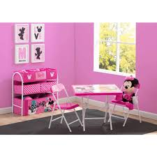 Play Table With Storage And Chairs Disney Minnie Mouse Playroom Solution Walmart Com
