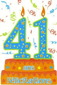 41 ans de mariage carte anniversaire âge 41 ans grossiste de carterie