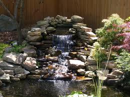 Rock Garden Waterfall Miscellaneous Pond Lilipads Garden Rock Waterfall Reeds Tree