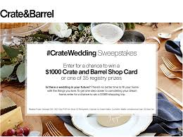 where to do your wedding registry his and hers wedding registry style with crate and barrel