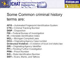 disposition bureau how to read a michigan criminal history tutorial ppt