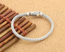 simple rope bracelet images 925 sterling silver rope 6mm simple silver bracelet men 39 s models jpg