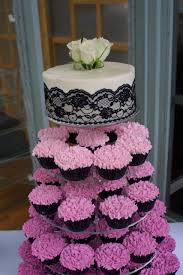 wedding cake and cupcake ideas fuschia ombre cupcake tower cupcake ideas for you