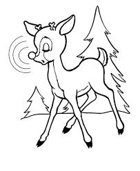 rudolph red nosed reindeer feel sleepy coloring color luna