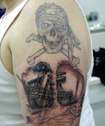 25 exciting pirate ship tattoo designs creativefan