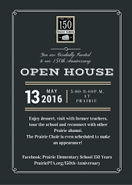open house invitation open house invite prairie elementary pta