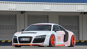 audi r8 modified audi r8 slammed to the road by performance