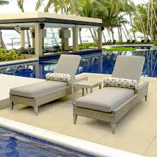 Outdoor Chaise Lounge Lafitte 3 Piece Wicker Patio Chaise Lounge Set W Sunbrella Canvas