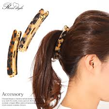 banana hair clip outletruckruck rakuten global market tortoiseshell design