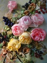 silk ribbon embroidery roses silk ribbon embroidery silk ribbon textile