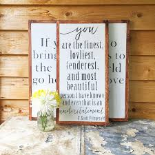 wedding quotes on wood f fitzgerald quotes wood sign vertical