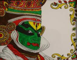 unique painting kathakali dancer face painting painting by gold peacock