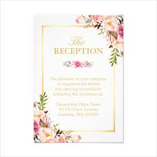 after the wedding party invitations 14 wedding reception card designs templates psd ai free